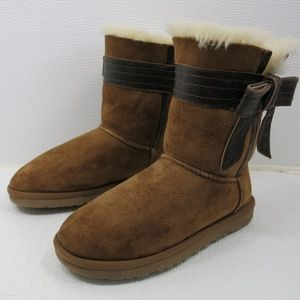 UGG Stap Leather Josette Insulated Boots Australia